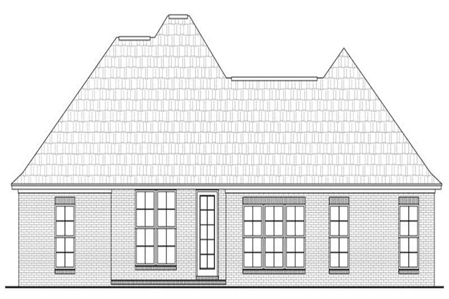 Home Plan Rear Elevation of this 3-Bedroom,1800 Sq Ft Plan -142-1023