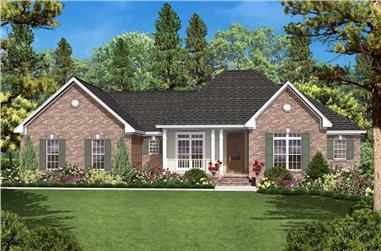 3-Bedroom, 1600 Sq Ft Country House - Plan #142-1024 - Front Exterior