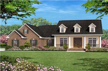 3-Bedroom, 1600 Sq Ft Country House Plan - 142-1025 - Front Exterior