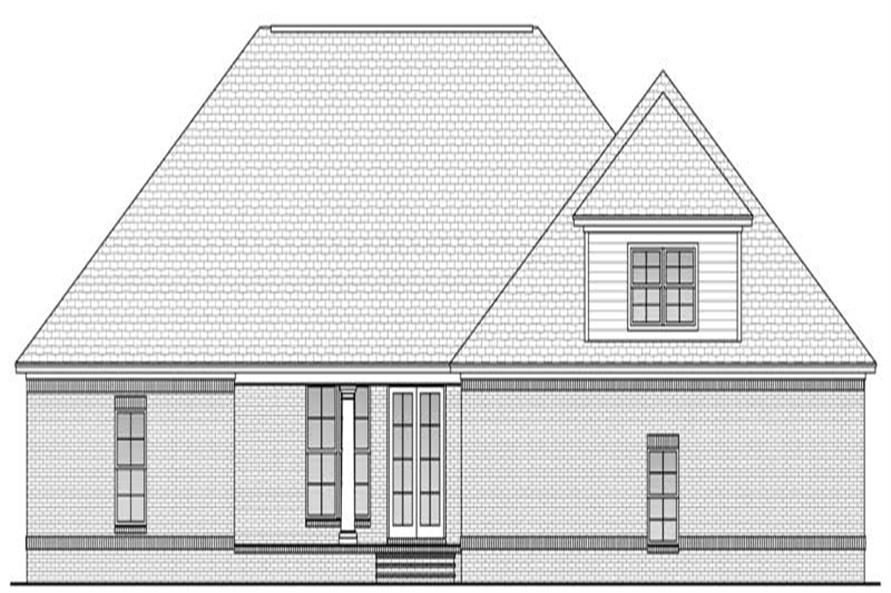 Home Plan Rear Elevation of this 4-Bedroom,2800 Sq Ft Plan -142-1026