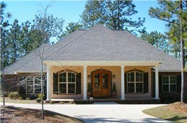 4-Bedroom, 2800 Sq Ft Acadian Home Plan - 142-1026 - Main Exterior