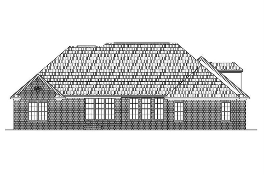 Home Plan Rear Elevation of this 3-Bedroom,2300 Sq Ft Plan -142-1027