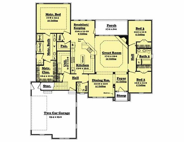 Main Floor Plan BB-2300