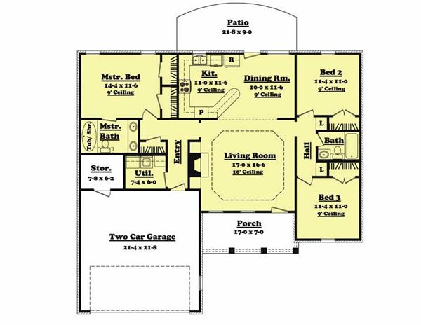 Main Floor Plan BB-1400-3