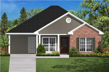 2-Bedroom, 900 Sq Ft Small House Plans - 142-1029 - Main Exterior