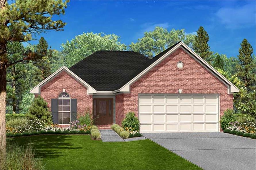 3-Bedroom, 1700 Sq Ft French Home Plan - 142-1030 - Main Exterior