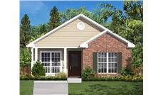 Computer rendering of Small House Plan #142-1031