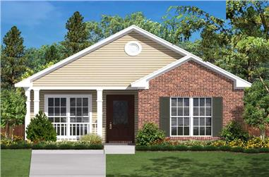 2-Bedroom, 850 Sq Ft Small House Plans - 142-1031 - Main Exterior