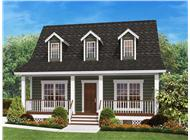 This is a front elevation rendering from a computer of these Country Homeplans.
