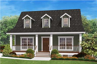 2-Bedroom, 900 Sq Ft Cape Cod House Plan - 142-1032 - Front Exterior