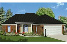 This image shows a computer rendering of these Acadian Homeplans.