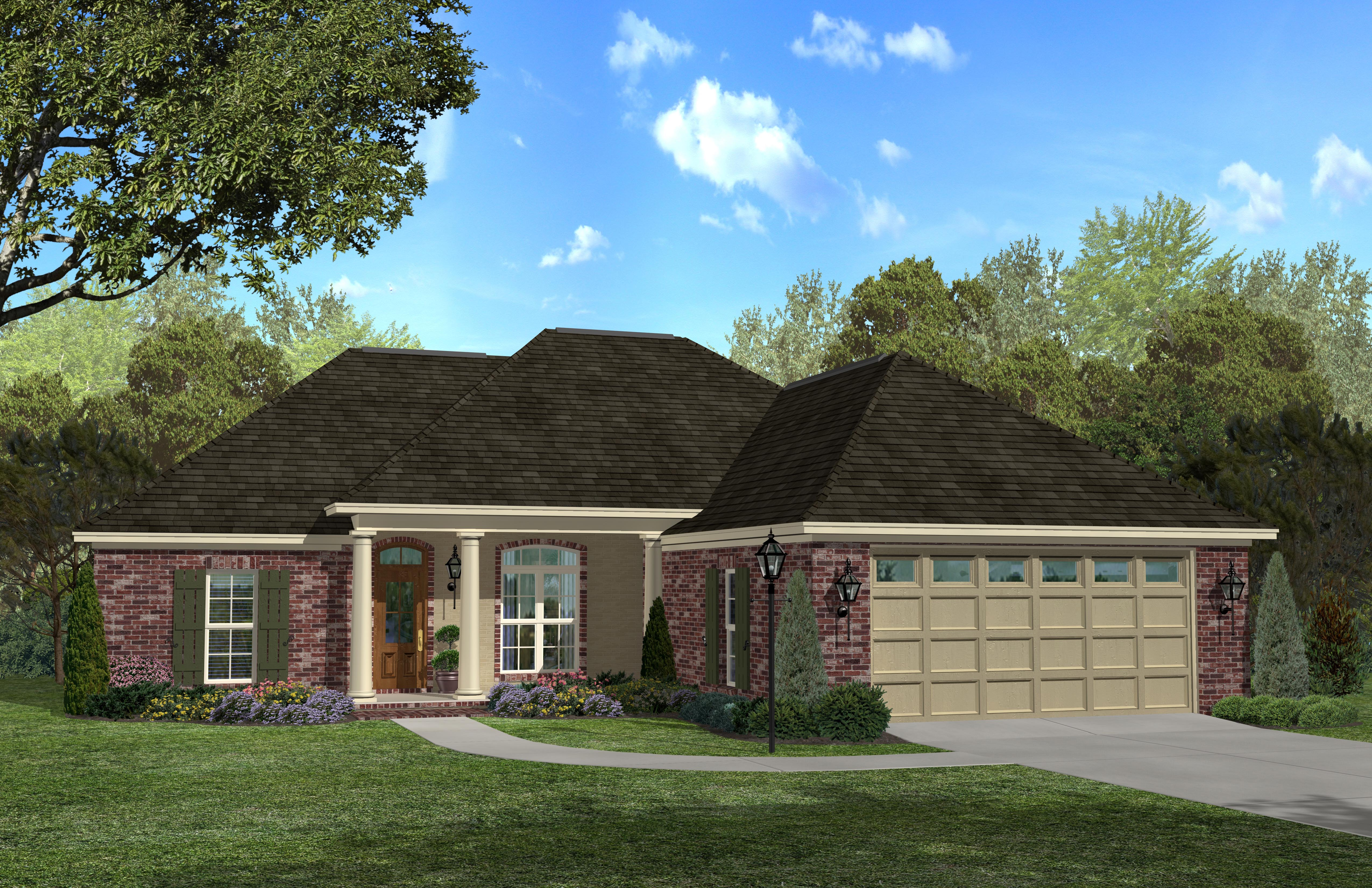 Country home plan 3 bedrms 2 baths 1700 sq ft 142 1033 for 1700s house plans