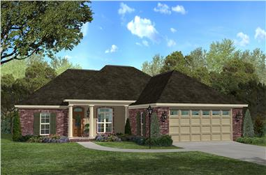 3-Bedroom, 1700 Sq Ft Country House Plan - 142-1033 - Front Exterior