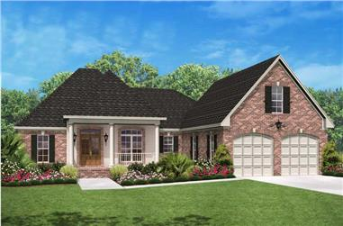 3-Bedroom, 2000 Sq Ft Country House Plan - 142-1034 - Front Exterior