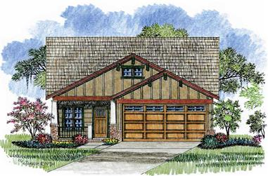 This is an artist's rendering of this particular set of Craftsman Homeplans.