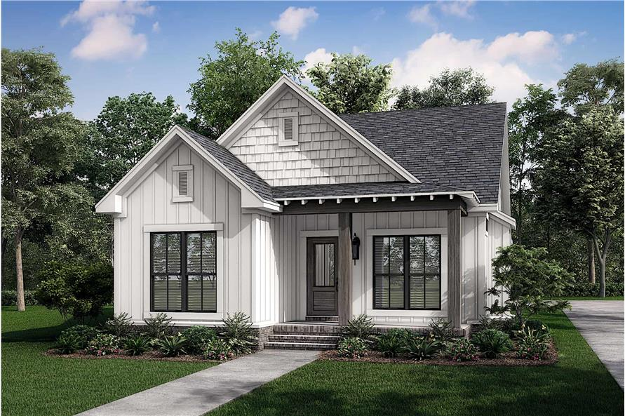 Right View of this 3-Bedroom,1300 Sq Ft Plan -142-1041