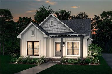3-Bedroom, 1300 Sq Ft Craftsman House - Plan #142-1041 - Front Exterior