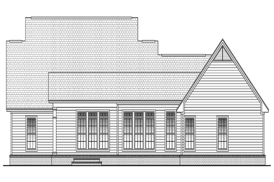 Home Plan Rear Elevation of this 3-Bedroom,2100 Sq Ft Plan -142-1042