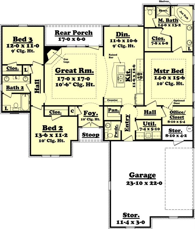 Southern Country Home With Interior Photos 40 Bedrooms 4040 Baths Plan 144010440 Delectable 3 Bedroom 2 Bath House Plans