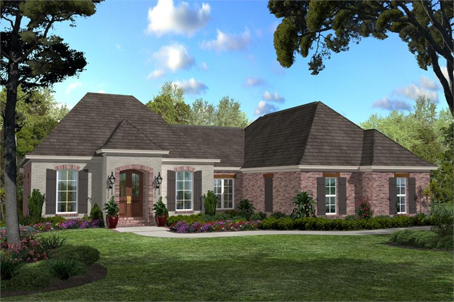 3-Bedroom, 1750 Sq Ft Country Home Plan - 142-1044 - Main Exterior