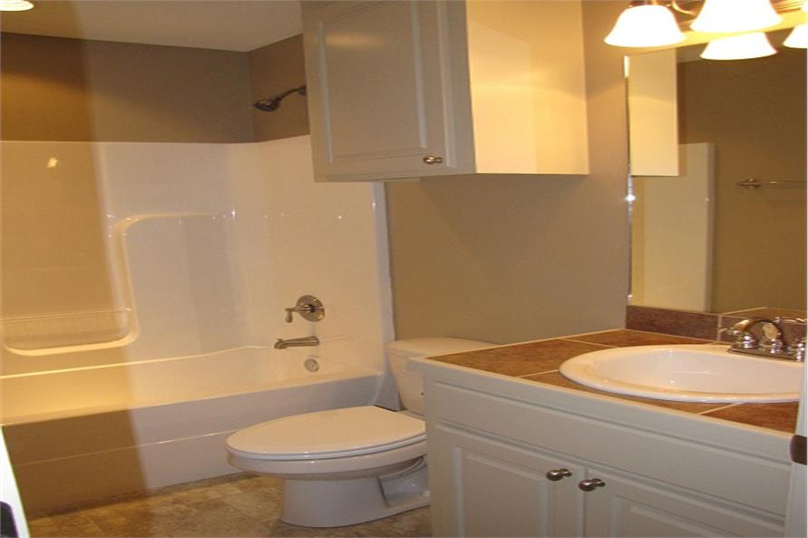 Bathroom of this 3-Bedroom,1300 Sq Ft Plan -1300