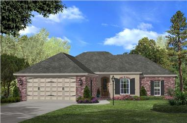 3-Bedroom, 1500 Sq Ft Ranch House Plan - 142-1047 - Front Exterior