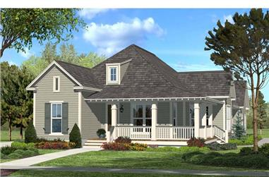 3-Bedroom, 1900 Sq Ft Acadian House Plan - 142-1048 - Front Exterior