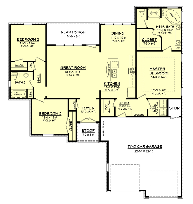 House Plan 142 1049 3 Bdrm 1600 Sq Ft Country Ranch