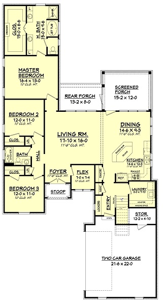 142-1050: Floor Plan Main Level
