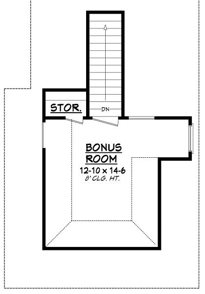 142-1050: Floor Plan Bonus Room