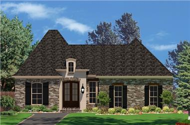 3-Bedroom, 1853 Sq Ft Country House Plan - 142-1050 - Front Exterior
