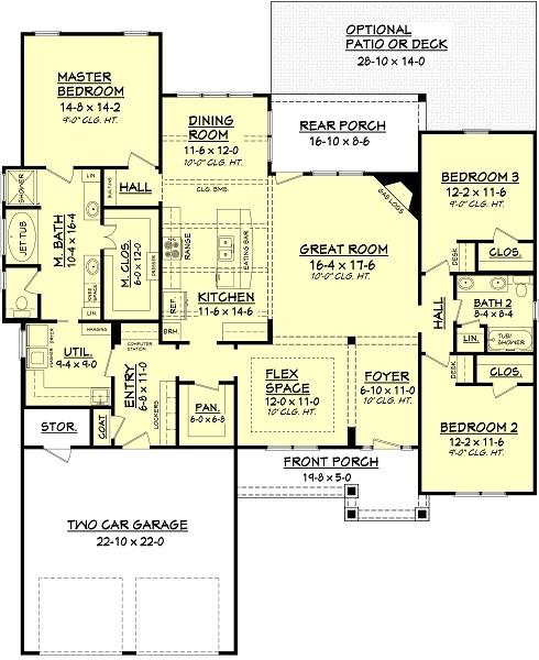 142-1051: Floor Plan Main Level