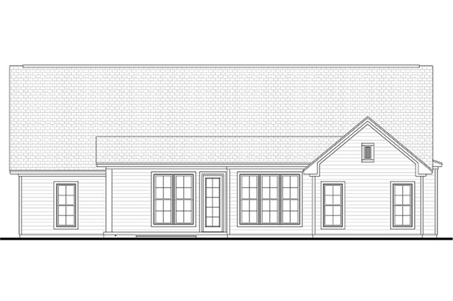 Home Plan Rear Elevation of this 3-Bedroom,2136 Sq Ft Plan -142-1051