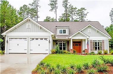 3-Bedroom, 2136 Sq Ft Country Plan - 142-1051 - Front Exterior