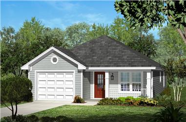 3-Bedroom, 1250 Sq Ft Traditional House Plan - 142-1053 - Front Exterior