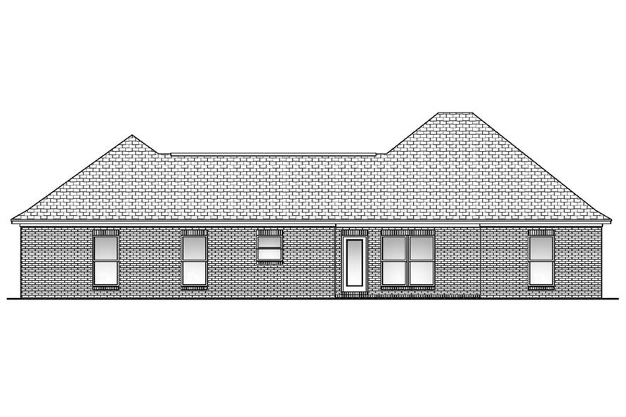 142-1057: Home Plan Rear Elevation