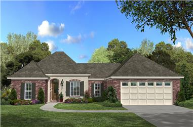 3-Bedroom, 1500 Sq Ft Acadian Home Plan - 142-1057 - Main Exterior
