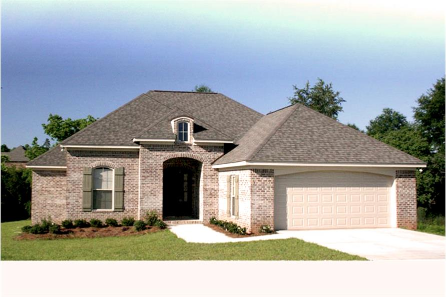 Color photo of Acadian home plan (House Plan #142-1062) at The Plan Collection.