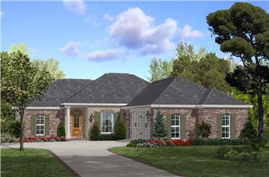 3-Bedroom, 1600 Sq Ft Acadian House - Plan #142-1063 - Front Exterior