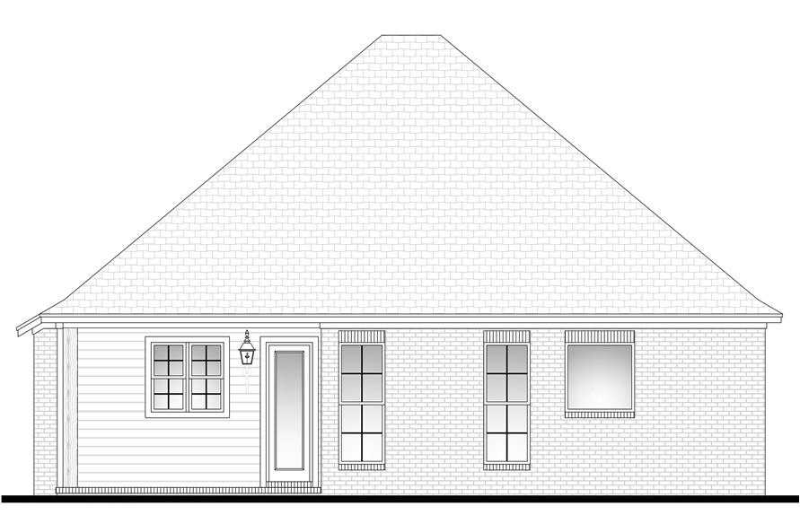 142-1065: Home Plan Rear Elevation