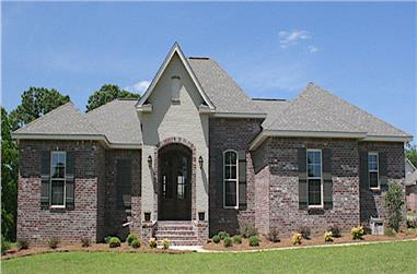 3-Bedroom, 1675 Sq Ft Acadian House - Plan - 142-1066 #Front Exterior