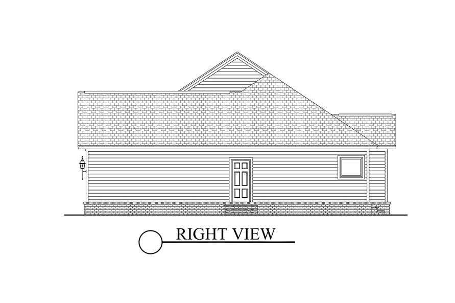 142-1067: Home Plan Right Elevation
