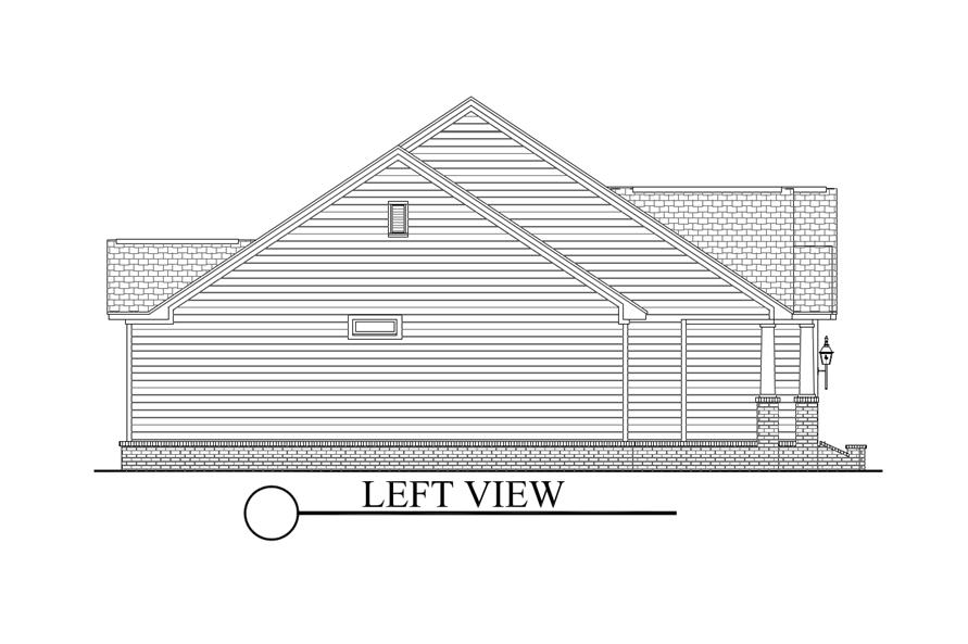 Home Plan Left Elevation of this 3-Bedroom,1675 Sq Ft Plan -142-1067