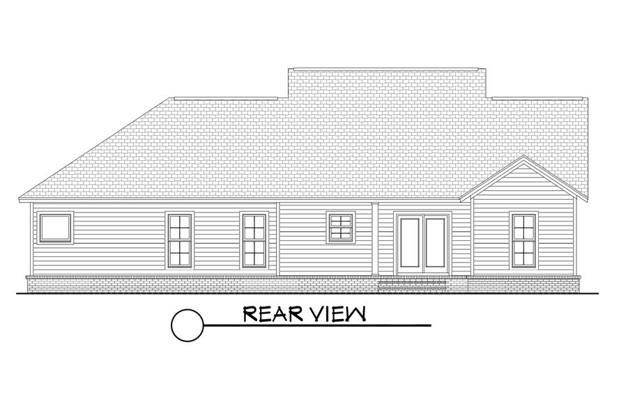 142-1067: Home Plan Rear Elevation