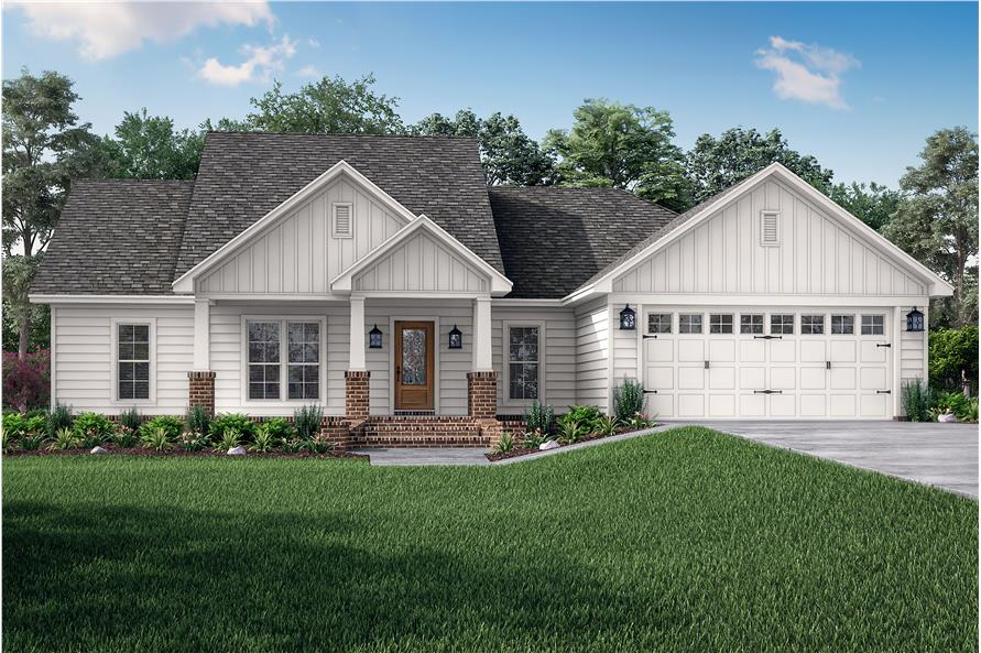 Front View of this 3-Bedroom,1675 Sq Ft Plan -142-1067