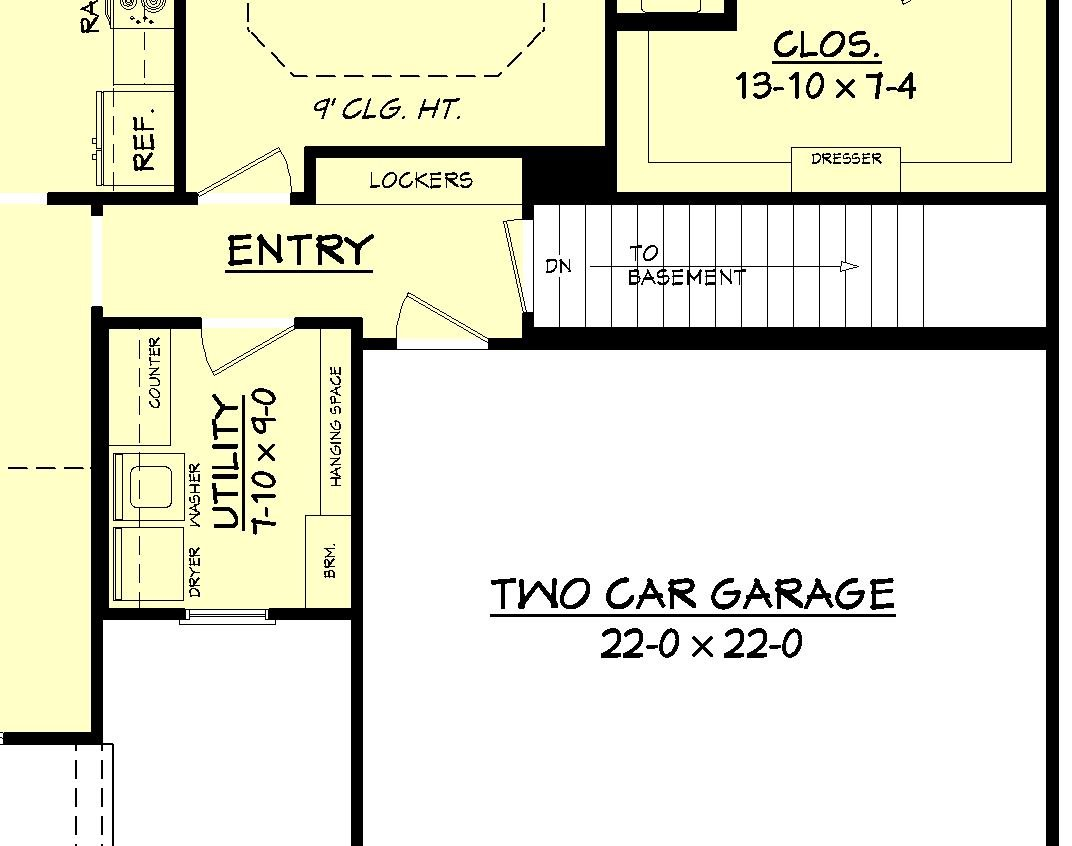 House plan 142 1067 3 bdrm 1 675 sq ft cottage home Cost of building a basement per square foot