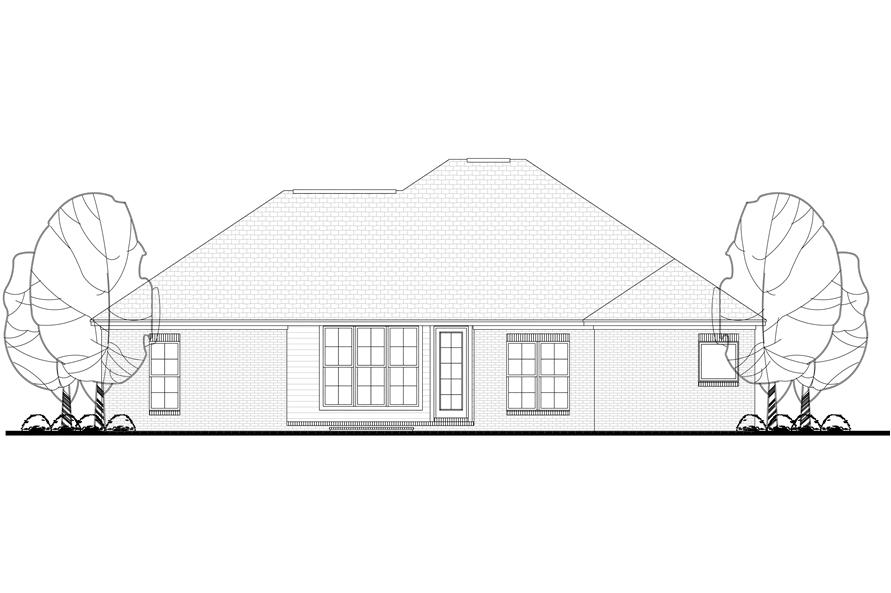142-1071: Home Plan Rear Elevation