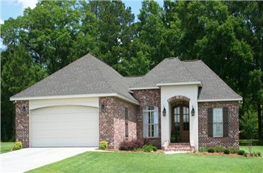 3-Bedroom, 1764 Sq Ft Acadian House Plan - 142-1074 - Front Exterior