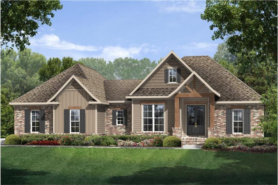Home Plan Rendering of this 3-Bedroom,1769 Sq Ft Plan -142-1075