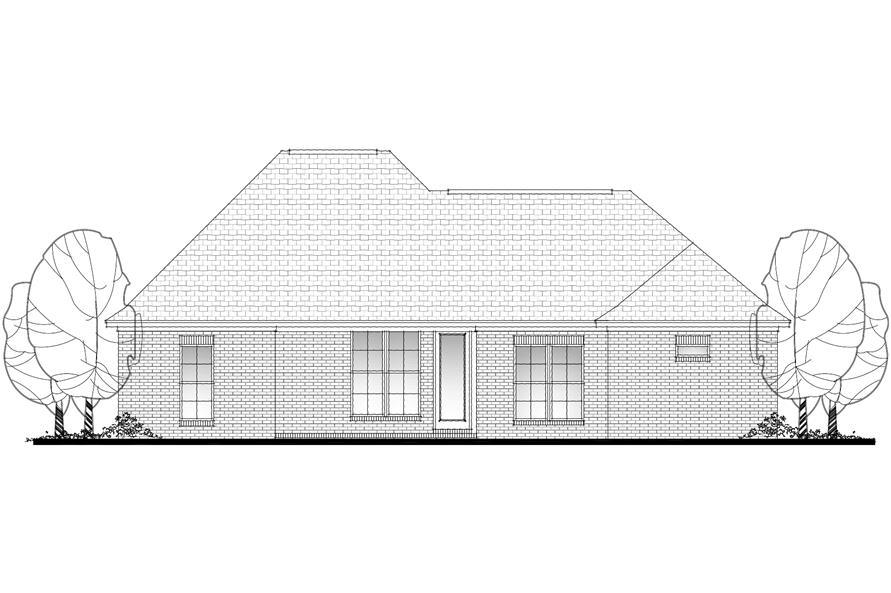 142-1076: Home Plan Rear Elevation